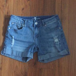 7FAM girls destroyed shorts